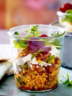 """Take a Break"" lentil salad - Abendbrot - Salat Protein Shake Recipes, Protein Shakes, Heart Healthy Recipes, Healthy Salad Recipes, Food To Go, Food And Drink, Essen To Go, Lentil Salad Recipes, Lunch To Go"