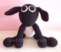 "Shaun the Sheep 6.7"" - Finished Handmade Amigurumi crochet Disney doll Home decor birthday gift Baby shower toy."