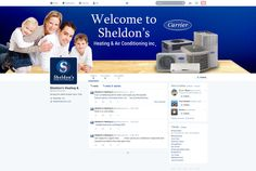 Custom Social Media  Twitter Graphics Design for Sheldons Heating and Air by CI Web Group