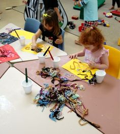 Playing and Learning Begins at Home: Threads and Wool ~ Activity time at Playgroup