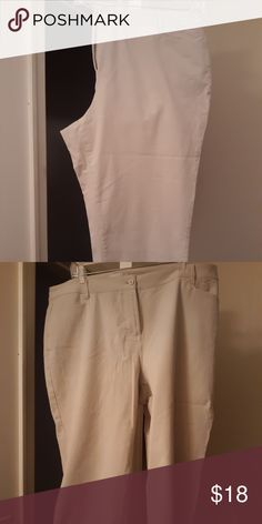 Worn 1x Hot Sale Talbots Womens • Dark Khaki • Cropped Stretch Size 18 Great Pants 100% Guarantee