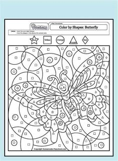 My free preschool math worksheets will help teach counting, numbers, and problem solving in exciting ways! Each is fun to color and full of activity ideas. Colouring Pages, Adult Coloring Pages, Free Coloring, Coloring Books, Alphabet Coloring, Adult Color By Number, Color By Numbers, Free Preschool, Kindergarten Worksheets