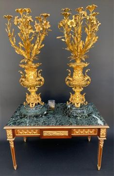 A PALATIAL PAIR OF DORE BRONZE AND MARBLE CANDELABRA Antique Auctions, Candelabra, View Image, Candle Holders, Marble, Bronze, Pairs, Antiques, Antiquities