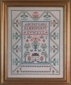 Stamped Cross Stitch Samplers | Country Stitching Heritage House Stamped Cross Stitch Kit