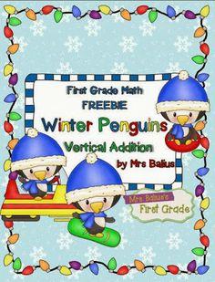 http://www.teacherspayteachers.com/Product/Winter-FREEBIE-Winter-Penguins-Vertical-Addition-999603