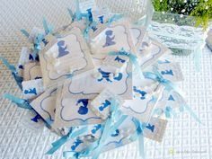 The guests souvenirs for this baby boy baptism