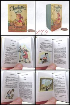 Little THINGS of Interest, Miniature Books and Accessories Og Dolls, Girl Dolls, Stuart Little, Charlottes Web, Doll Tutorial, Bitty Baby, Dollhouse Dolls, American Girls, Any Book