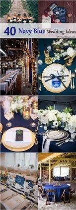 Navy blue wedding color theme ideas