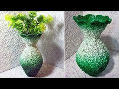 Best Out of Waste Plastic Bottle Flower Vase - 2 /DIY/ Plastic Bottle Craft Idea Paper Flower Decor, Flower Vases, Flower Pots, Paper Flowers, Plastic Bottle Flowers, Plastic Bottle Crafts, Recycle Plastic Bottles, Water Bottle Crafts, Diy Bottle