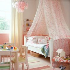 I want to do this with some super sweet material for the girls bed.