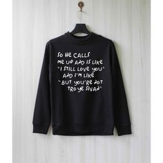 So He Calls Me Up Troye Sivan Sweatshirt Sweater Shirt Size XS S M L... ($28) ❤ liked on Polyvore featuring tops, hoodies, sweatshirts, sweatshirt hoodies, sweat shirts, shirts & tops, sweat tops and sweatshirt shirts