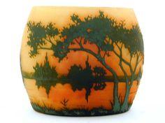 Daum Vase with River Landscape