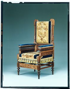 Armchair  Pottier and Stymus Manufacturing Company  (active ca. 1859–1910)  Date: ca. 1875 Geography: Mid-Atlantic, New York City, New York, United States Culture: American Medium: Black walnut