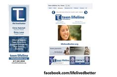 Teen Lifeline Custom Facebook Page - Designed by The Marketing Twins Facebook Fan Page, The Marketing, Parenting Teens, High School Students, Fort Worth, Page Design, Twins, Life, Gemini