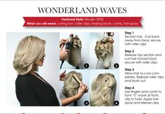 Wavy style for a human hair wig.