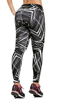 86ca85345fbd Fiber Colombian Activewear Printed Leggings with Designs Gym Workout Tights  at Amazon Women s Clothing store