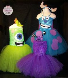 Disney Pixar Monsters Inc Inspired Tutu Costumes With the right tube top, so cute, i wonder if i could do this for next halloween? id need a lot of help! Disney Halloween, Holidays Halloween, Halloween Costumes For Kids, Halloween Treats, Diy Tutu, Monster Inc Costumes, Monster Inc Party, Robes Tutu, Tutu Dresses