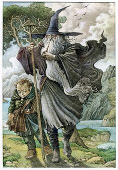 Gandalf and Bilbo - Hobbit - Pisarev Roman
