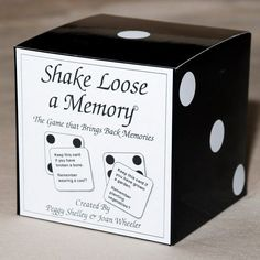 "Shake Loose A Memory. May be better for residents with dementia but could gear it to be more of a convo-game for anyone. Like ""never have I ever"""