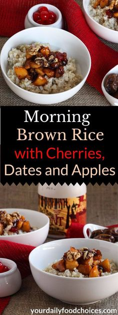 Use leftover rice from the night before to make sweet and satisfying morning…