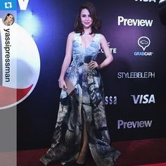 Preview Magazine's June Cover girl Yassi Pressman stunned in H&M Conscious Collection at the Preview Ball last night. Repost @yassipressman