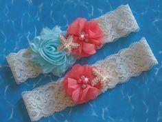A personal favorite from my Etsy shop https://www.etsy.com/listing/270511372/beach-wedding-garter-set-something-blue