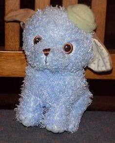 7-034-HALLMARK-Blue-STUFFED-PLush-PUPPY-DOG-Brown-Hat-BLUE-EYES-POLKA-DOTTED-EARS-9