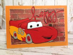 Lightning McQueen Birthday Card by Greeting Grub Cards