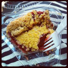 Via bookbloom on Instagram: raspberry peach crumb pie. #foodie #pieweek #holywowthisisgood