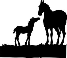 animals, silhouette, cartoon, horse, mammals