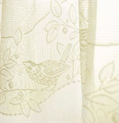 Exquisite Birds and Berries Lace Curtains