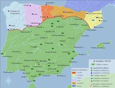 the reconquista- the campaign to drive out the Muslims from Spain is know as the Reconquista Spain History, World History, Family History, Art History, Historical Maps, Historical Pictures, Antique Maps, Vintage Maps, Map Of Spain