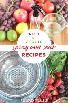 DIY Fruit and Veggie Wash Spray (+ Preserver) - Fabulessly Frugal Banana Bread Recipes, Fruit Recipes, Whole Food Recipes, Quick Recipes, Fruit And Vegetable Wash, Asparagus Pasta, Broccoli Recipes, Food Facts, Household Cleaners