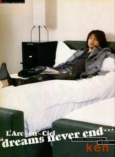 2005 ken CD Data February 2005 Happy New Year! Our gift? why it's kenchan in the bed ^^ Hyde, Happy New Year, February, Cover, Gift, Asian, Posts, Musica, Backgrounds