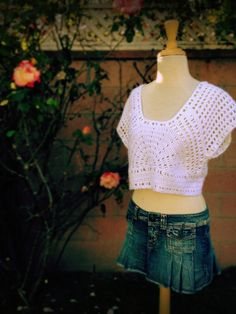 Crochet Lazy Days of Summer Top.  I found the free crochet pattern on Ravelry, and it was so easy to make!