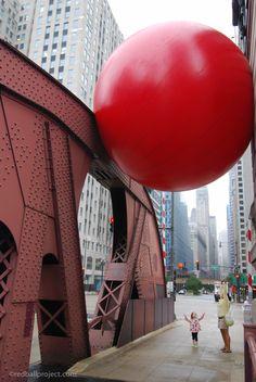 Kurt Perschke - RedBall Project - Progetto di arte urbana