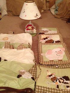 NoJo Farm Babies Crib Bedding and room décor set picclick.com