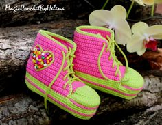 Baby style booties Baby crochet shoes by MagicCrochetByHelena