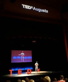 "One of the shots from my Tedx Augusta performance last weekend. The topic was Autonomy. My poem was called ""Beech Island"". It was a great experience."