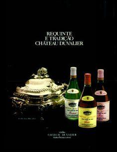 Anúncio vinhos Chateau Duvalier - 1971