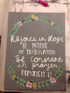 Made to order// Hand painted scripture canvas by LaurenElizabethClark on Etsy