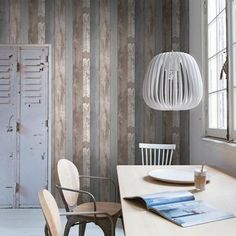 Pin from www. Wood Plank Walls, Wood Planks, How To Distress Wood, Sweet Home, Bedroom, Wallpaper, Nature, House, Furniture