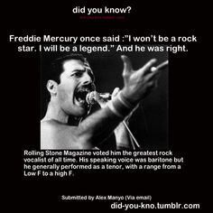 Freddie Mercury-BLC-knew he was amazing the first time I heard him. No, he isn't my very favorite but I do appreciate his vocal talent.