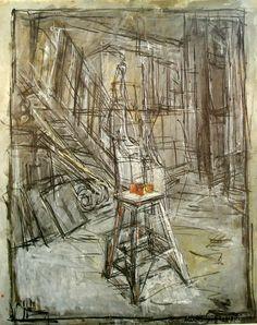peinture: Alberto Giacometti - l'atelier