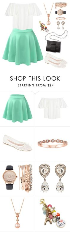 """Walk along the Eiffel Tower"" by cecilialukas on Polyvore featuring LE3NO, Valentino, Summit by White Mountain, MM6 Maison Margiela, Jessica Carlyle, Dolce&Gabbana, LE VIAN and Lenora Dame"
