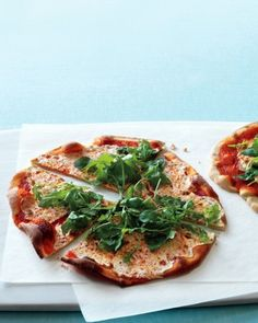 See our Roasted-Red-Pepper Pizzas with Arugula galleries
