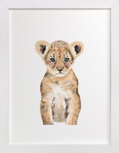 Baby Animal Lion by Cass Loh at minted.com