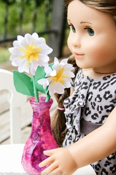 Make a Cheery Vase for Dolls