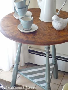 Gorgeous DIY table by Simple Home Life. Love the color choice!
