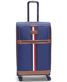 """Tommy Hilfiger Logan 25"""" Softside Spinner & Reviews - Upright Luggage - Macy's Tommy Hilfiger Luggage, Hanging Dryer, Unisex Baby Clothes, Furniture For Small Spaces, How To Dye Fabric, Women Brands, Mens Gift Sets, Leggings Are Not Pants, Boys Shoes"""